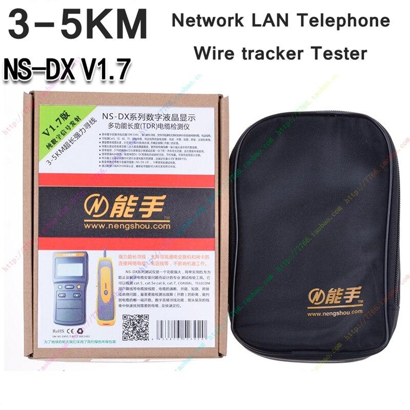 ReadStar NS-DX V1.7 numérique LCD affichage réseau LAN téléphone RJ45/11 câble Toner fil détecteur ligne Toner traceur testeur - 3