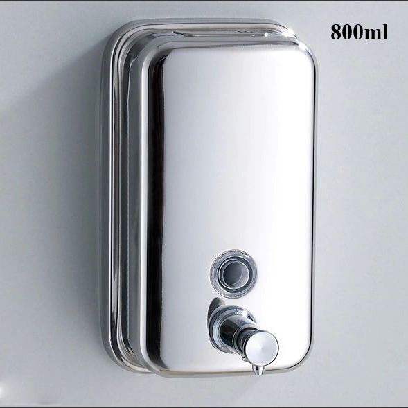 Liquid Soap Dispensers 800ml Stainless Steel Wall Mounted