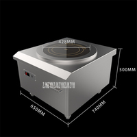 380V/50hz SCR 3012 Commercial Induction Cooker Low Soup High Power Planar Induction Cooker Black crystal plate diameter 428mm