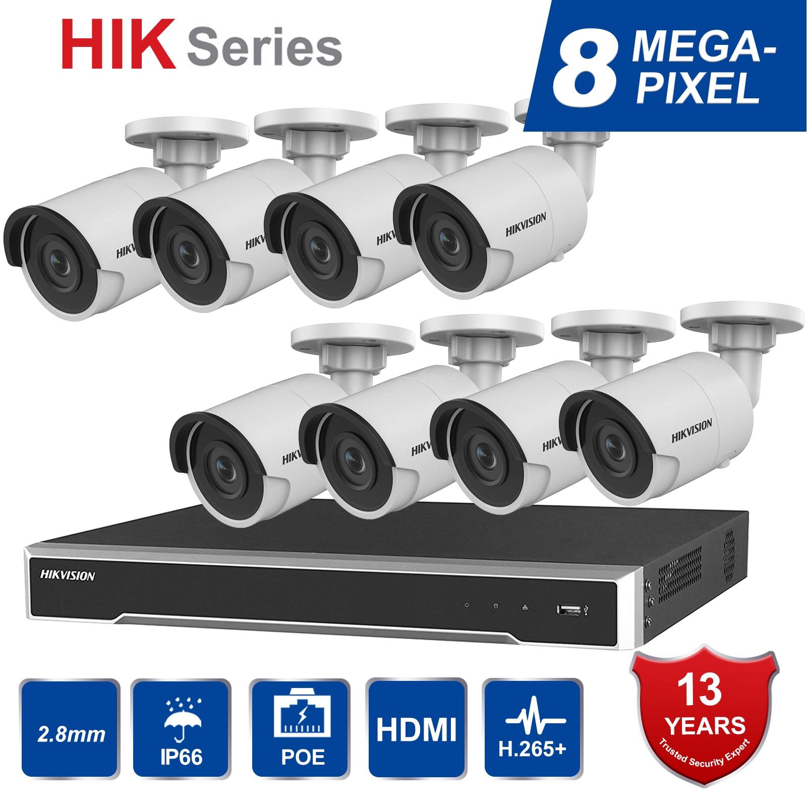 Hik Original 8CH HD เครือข่าย POE NVR ชุดกล้องวงจรปิดความปลอดภัย 8 pcs 8MP Bullet กล้อง IP กลางแจ้ง IR Night vision ชุด-ใน ระบบการเฝ้าระวัง จาก การรักษาความปลอดภัยและการป้องกัน บน AliExpress - 11.11_สิบเอ็ด สิบเอ็ดวันคนโสด 1