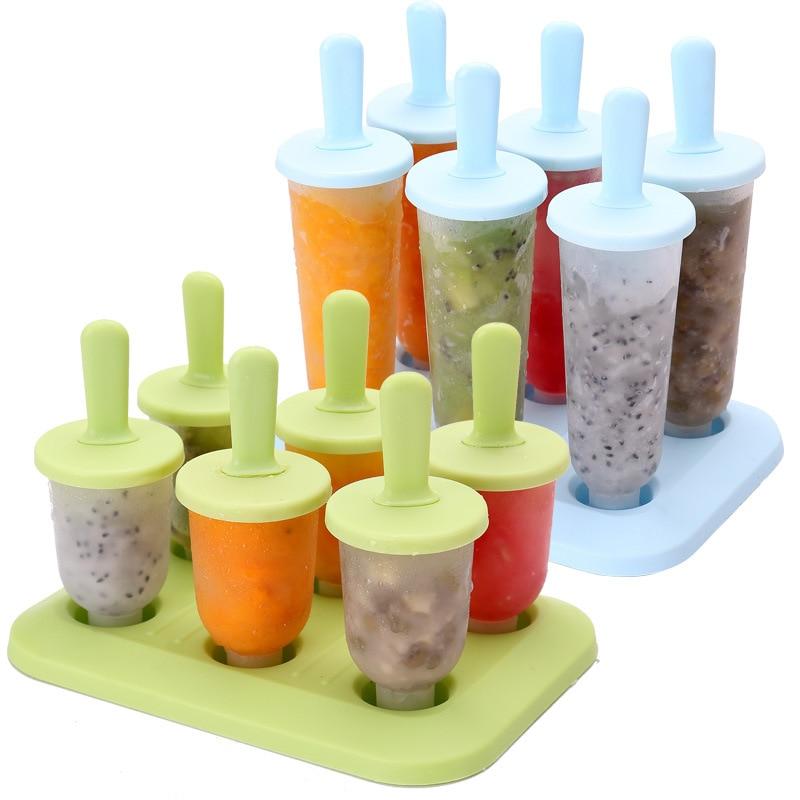 1Set Evdə Dondurma Popsicle Kalıp Yaradıcı Yay Dondurma qutusu - Mətbəx, yemək otağı və barı - Fotoqrafiya 1