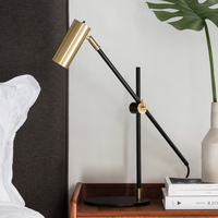 Modern AK47 Golden gun table lamp Nordic Creative living room bedroom study desk lamp luminaire Living room deco lamp