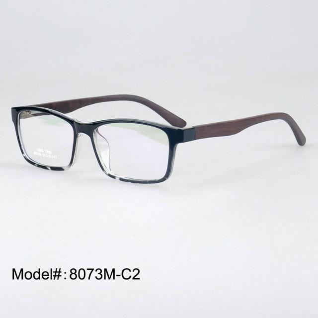 8073 M primavera articulada de madeira templo TR 90 óculos de miopia armações de óculos RX