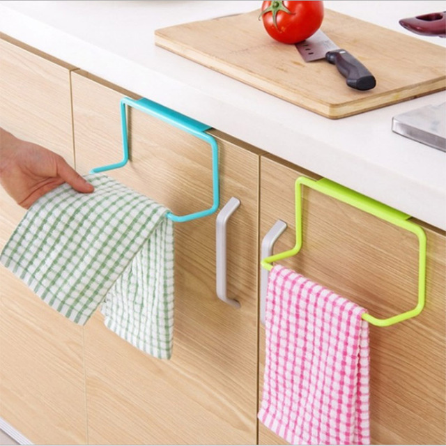 GULUGULU  High Quality Towel Rack Hanging Holder Organizer Bathroom Kitchen Cabinet Cupboard Hanger8