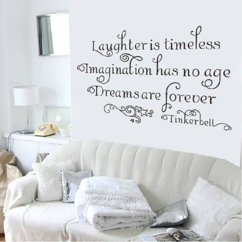 tinkerbell quote poster for living room wall sticker room decoration