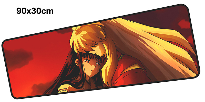 inuyasha mouse pad gamer 900x300mm notbook mouse mat large gaming mousepad Professional pad mouse PC desk padmouse accessories