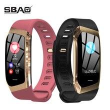 Умные часы для мужчин для женщин спортивный ремешок сенсорный экран Smartband приборы для измерения артериального давления водонепроница…