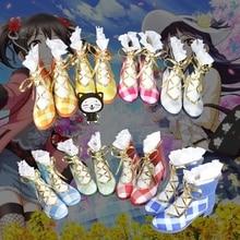 New LoveLive! Kotori Minami/Nico/Tojo Nozomi Bouquet Flower Awaken Cosplay Shoes LoveLive All Members School Idol Cosplay Boots цена