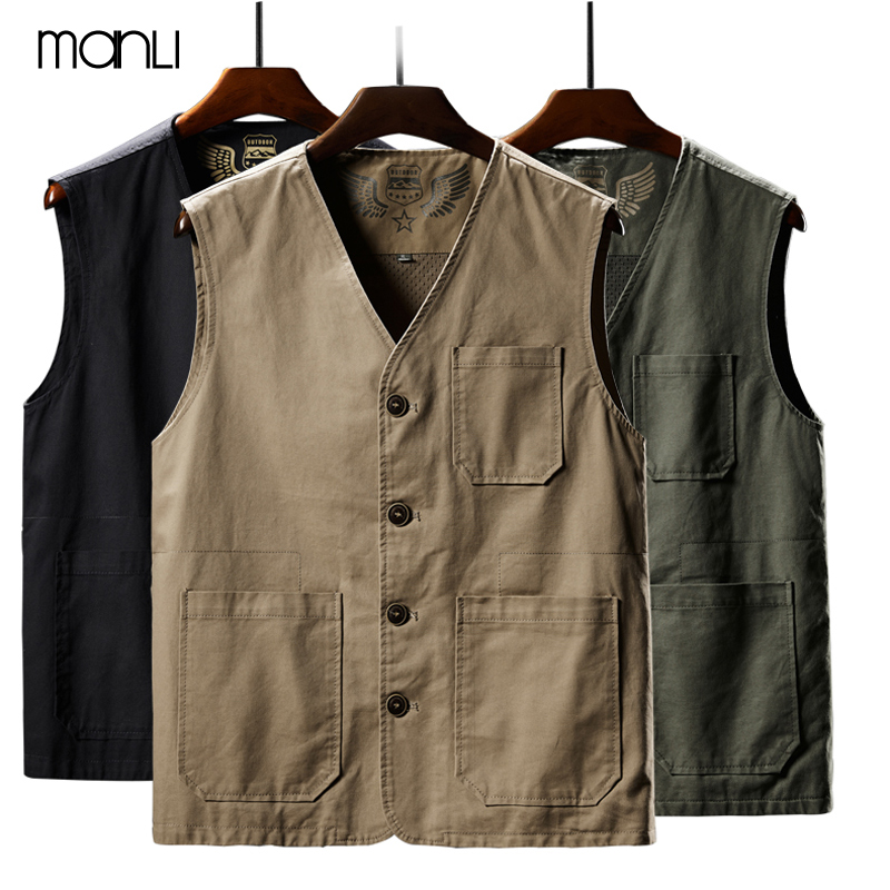 MANLI Outdoor Fishing Vests Breathable Jackets Photography Hiking Vest Waistcoat Cargo Work Coats Man Sleeveless JacketMANLI Outdoor Fishing Vests Breathable Jackets Photography Hiking Vest Waistcoat Cargo Work Coats Man Sleeveless Jacket