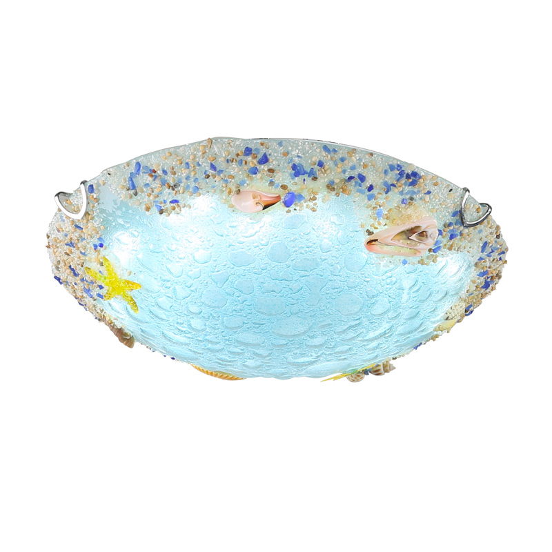 Modern Mediterranean Sea Shell Surface Mounted Lights E27 Bulb Drum Ceiling Lamp Home Decortive For Bedroom Kid's Room CL179 tiffany mediterranean style peacock natural shell ceiling lights lustres night light led lamp floor bar home lighting