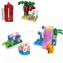 Legoing Citys Toys Series Figures Children's Playground Compatible Park Building Blocks Friends Educational Kid Gifts Legoinglys(China)