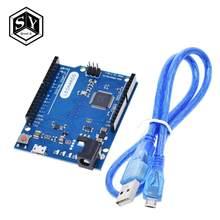 Ótimo controlador leonardo r3, placa de desenvolvimento com cabo usb compatível com arduino kit iniciante diy