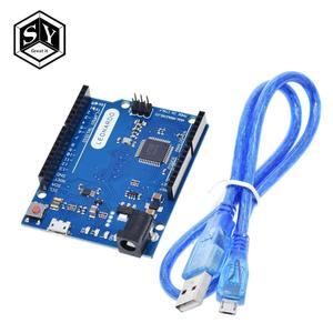 Great IT Leonardo R3 Microcontroller Atmega32u4 Development Board With USB Cable Compatible For Arduino DIY Starter Kit(China)