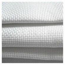KOSTENLOSER Versand Top Qualität 14ST 14CT kreuzstich leinwand stoff weiß sparkle glänzend, 100 cm x 150 cm