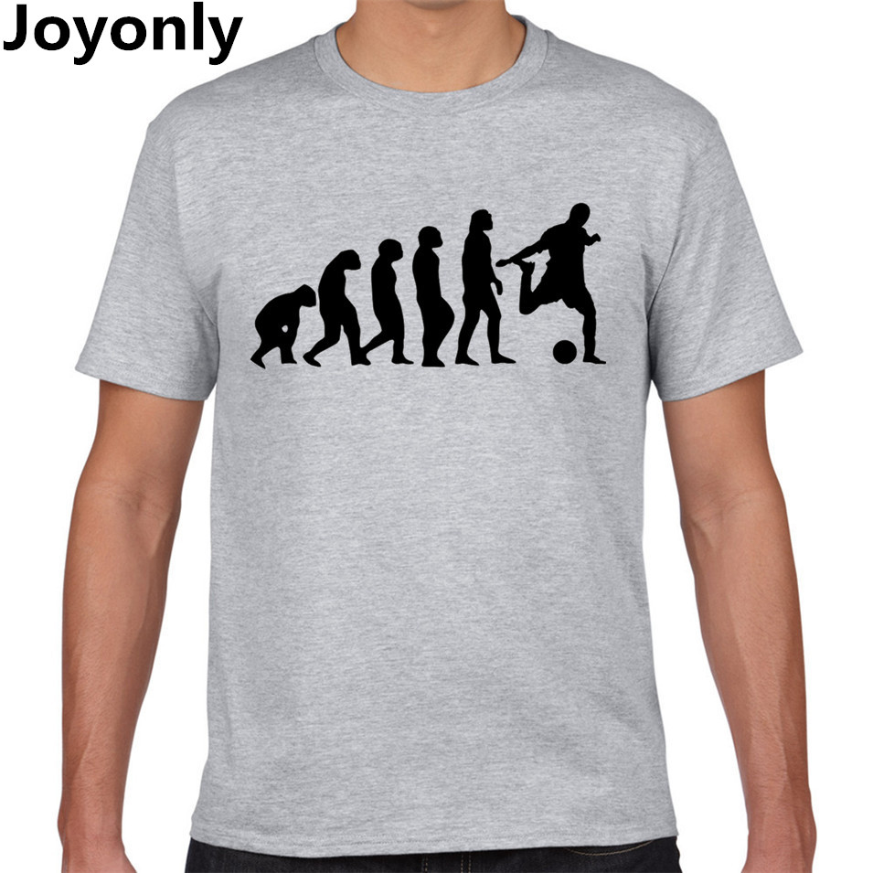 Joyonly evolution of footballer t shirt design tops t Design t shirt online
