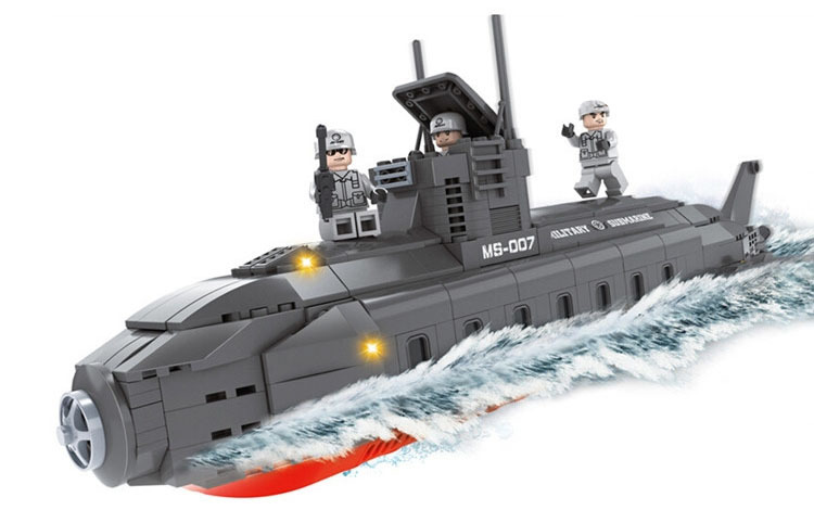 model building kits compatible with lego city submariner 570 3D blocks Educational model & building toys hobbies for children