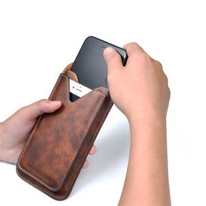 """Image 3 - Uniwersalny telefon komórkowy dla 4.0 """" 6.3"""" duży PU skórzany portfel etui torba zaczep na pasek wiszące pierścień pionowe odwróć etui dla iPhone Galaxy"""
