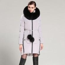 2017 Autumn Winter Women Down Parkas Coats with Raccoon Fu Hoody 80% Duck Down Fashion Outerwear Overcoat 3XL 4XL AF3129