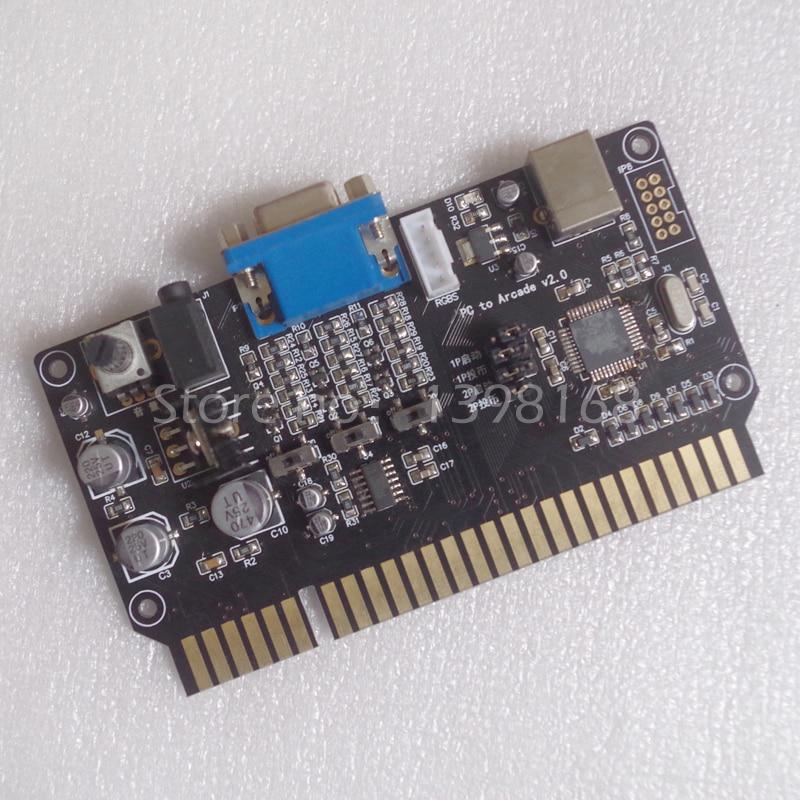 VGA 15K video audio power amplifier gain/ PC to JAMMA adapter card/ USB Joystick chip