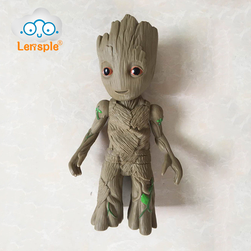 Lensple 27cm Guardians of the Galaxy 2 Baby Groot Tree Man Action Figure Doll Toy Model Christmas Birthday Gifts For Kids  new arrivals hote cute guardians of the galaxy 2 groot statue figure collectible model toy 9 types children gifts