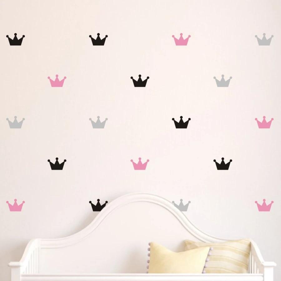 36pcs//set Kid/'s Bedroom Decorate Wall Decals Princess Baby Room Wall Decor
