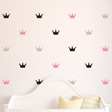 36pcs/set Kid's Bedroom Decorate Wall Decals Princess Baby Room Wall Decor Crown Pattern Vinyl Wall Sticker For Kids