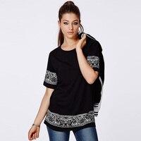 Free Shipping Summer Fashion Printed Loose Cotton Short Sleeve Vintage T Shirts Black Cool Shirts Casual