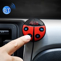 ENKLOV Car Carrier Beetle Shape Wireless Bluetooth FM Transmitter Speakerphone Bluetooth Car Kit Car Auto Transmitters