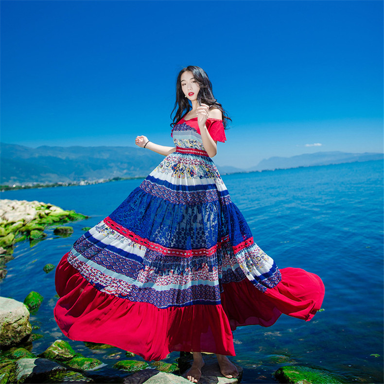 New High Quality Explosions Leisure Vintage Elegant Party Dresses Women Patchwork Sleeveless Spring summer Casual Shirt