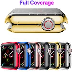 Image 2 - Mode 360 degrés mince housse de montre pour Apple Watch 3/2 42MM 38MM étui souple transparent protection décran en ptu pour iWatch 4 44MM 40MM