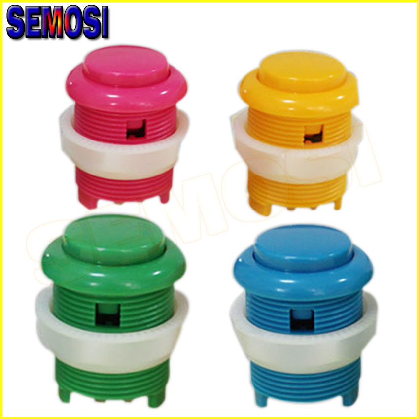 28mm High Quality Arcade Button DIP Push Buttons Switch Keysters for Arcade Game Machine