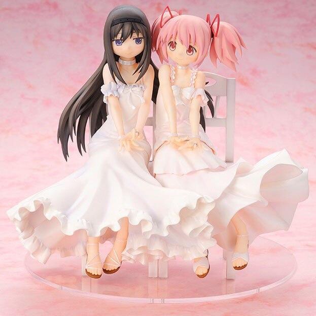 Anime Puella Magi Madoka Magica Akemi Homura Kaname Madoka Beautiful Statue Girls Figure Toys