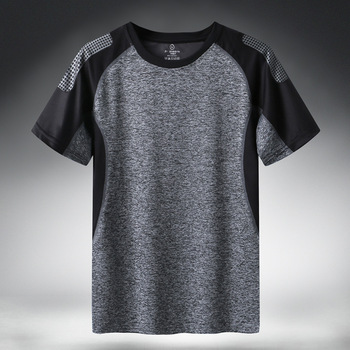 Quick Dry Sport T Shirt Men 2021 Short Sleeves Summer Casual Cotton Plus Asian Size M-5XL 6XL 7XL Top Tees GYM Tshirt Clothes 2