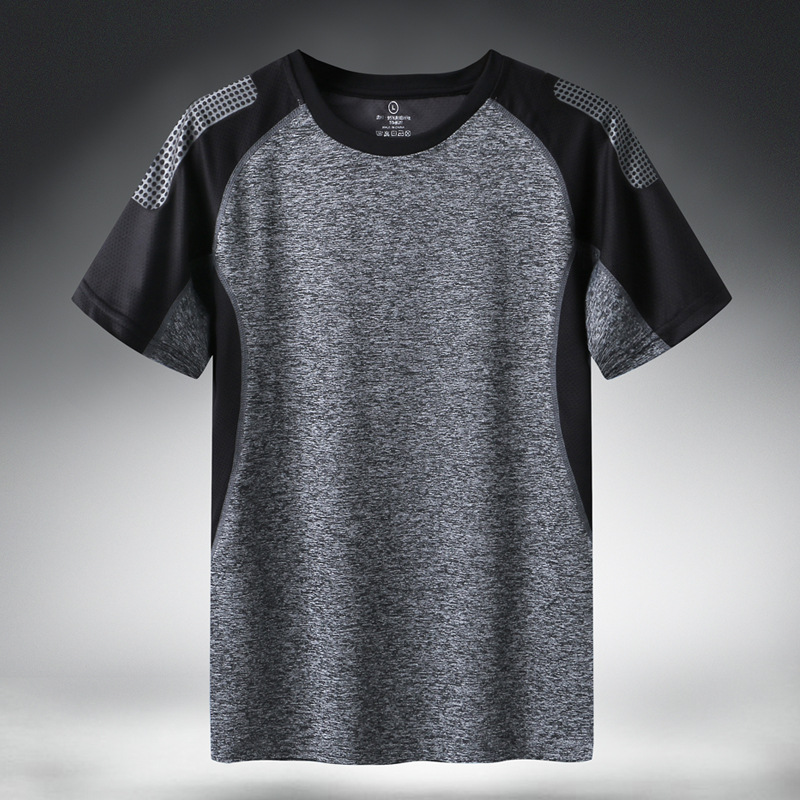 Quick Dry Sport T Shirt Men'S 2021 Short Sleeves Summer Casual Plus Asian Size 5XL 6XL Top Tees GYM Tshirt Clothes