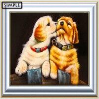Diy 5d Diamond Painting Modern Canvas Paintings Home Decor Frameless Picture Cartoon Animal Happy Dog Diamond