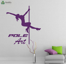 Elegant Dancer Wall Decal Woman Sport Studio Logo Vinyl Stickers Quotes Pole Art Fitness Club Decor Fashion Mural DIY SY200