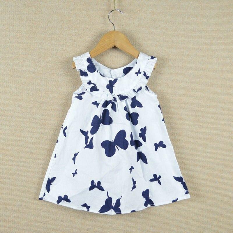 Retail-2017-New-summer-children-girls-dresscotton-print-butterfly-long-design-t-shirt-2-7Y-1