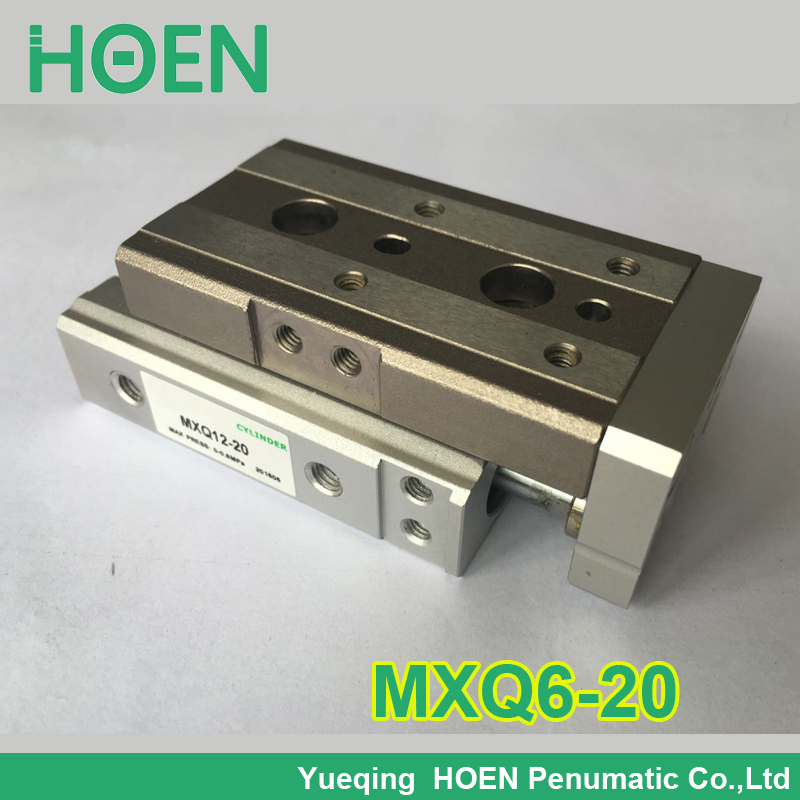 MXQ6-20 SMC Type MXQ Pneumatic Slinder Cylinder MXQ6-20A 20AS 20AT 20B Air Slide Table Double Acting 6mm Bore 20mm Stroke high quality double acting pneumatic gripper mhy2 25d smc type 180 degree angular style air cylinder aluminium clamps
