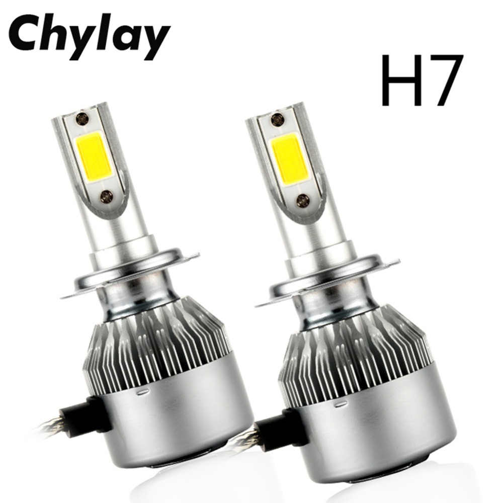 One Pair H1 LED H7 H4 H11 H3 HB4 H8 H27 HB3 9005 9006 881 Auto C6 Car Headlight Bulbs 72W 7600LM Fog Light Bulb 6000K Led Lamp