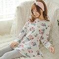 Nuevo 2016 Pijama Femme Ropa Hogar Pigiami Pijamas Mujer Feminino Pijama Pijama Entero Adventure Time Mujeres de Los Pijamas ropa de Dormir