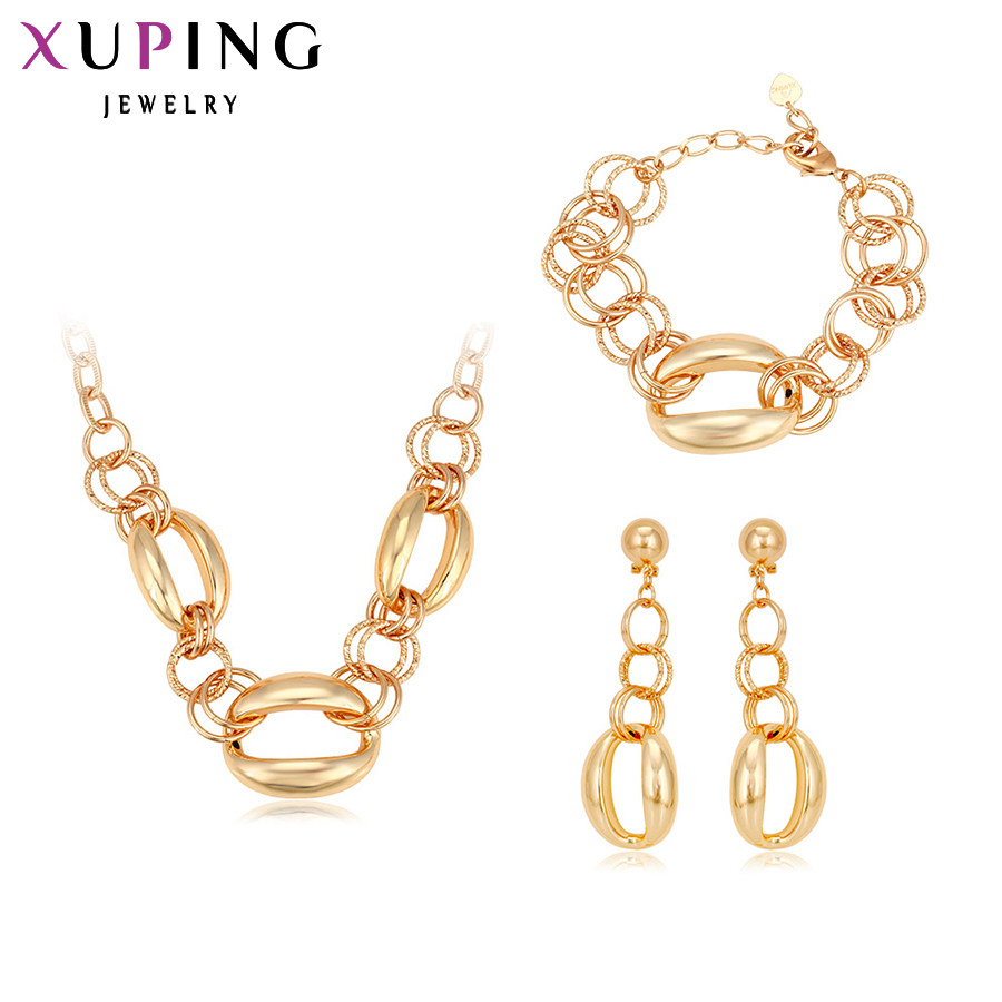 11.11 Deals Xuping Fashion Set 2017 New Arrival Charm Style Women Gold Color High Quality Big Imitation Jewelry Sets S129-60070 my world figures toy building blocks compatible with legoinglys minecrafted city 4 in 1 diy garden bricks toy gift for kid