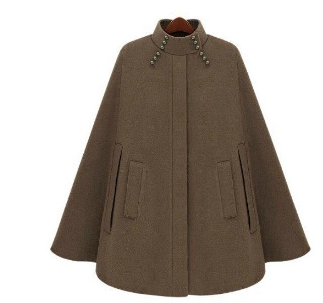 Pardessus Hiver Couvert 2018 De 2 Bouton Mode Laine Manteau Nouvelles 1 Casual Outwear Cape Automne Cachemire Femmes Poncho wzCwPUq