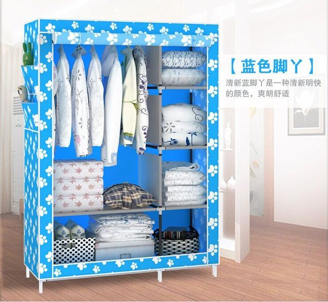 Merveilleux Hot Rolling Korean Simple Wardrobe Closet Disassembly Students Metal Steel  Storage Cupboard Housing