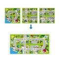 40*40 см 4 шт./компл. Puzzle Ковров Ребенка Играть Коврик Головоломки Мат ЕВА Дети Пены Ковер Мозаичный Пол