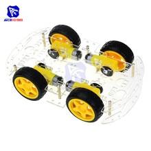 4WD робот умный автомобиль шасси наборы с кодером скорости для Arduino 51 M26 DIY образование робот умный автомобиль комплект