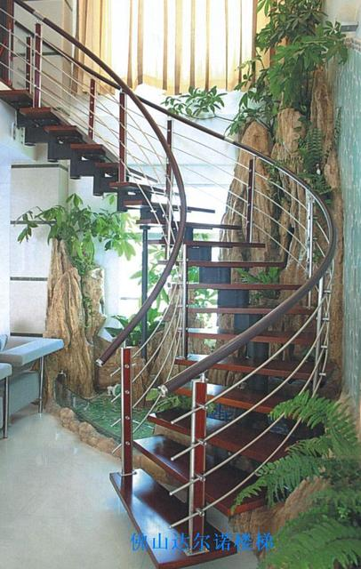 Charming Glass Staircase Handrail Stainless Steel Rails Spiral Staircase Staircase