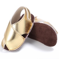 Summer Kids Girls PU Material First Walker Shoe Baby Solid Color Non-slip Shoes 0-18M