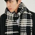 """Осень и зима новых мужчин """"s шарф Корейский решетки шаль молодых людей, чтобы держать теплый имитация кашемира утолщение тенденция"""