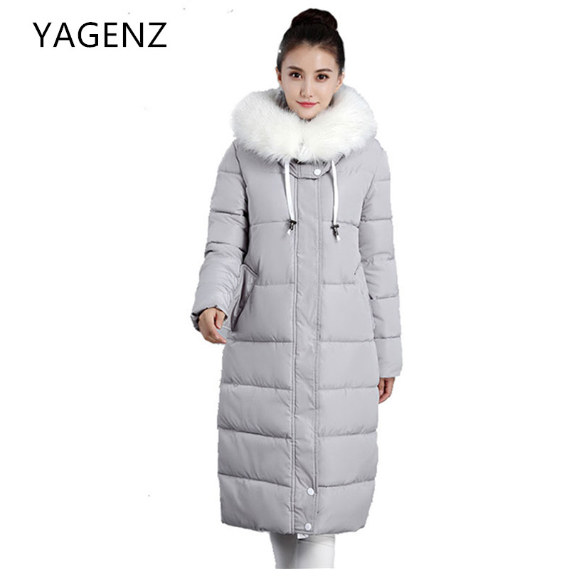 2017 New Winter Parkas Hooded Women Jacket Coats Elegant Temperament Thick Warm Down cotton Long Overcoat Casual Lady Clothing 2017 new winter warm hooded long women s coats thick cotton jacket women embroidery letter vintage overcoat parkas abrigos mujer
