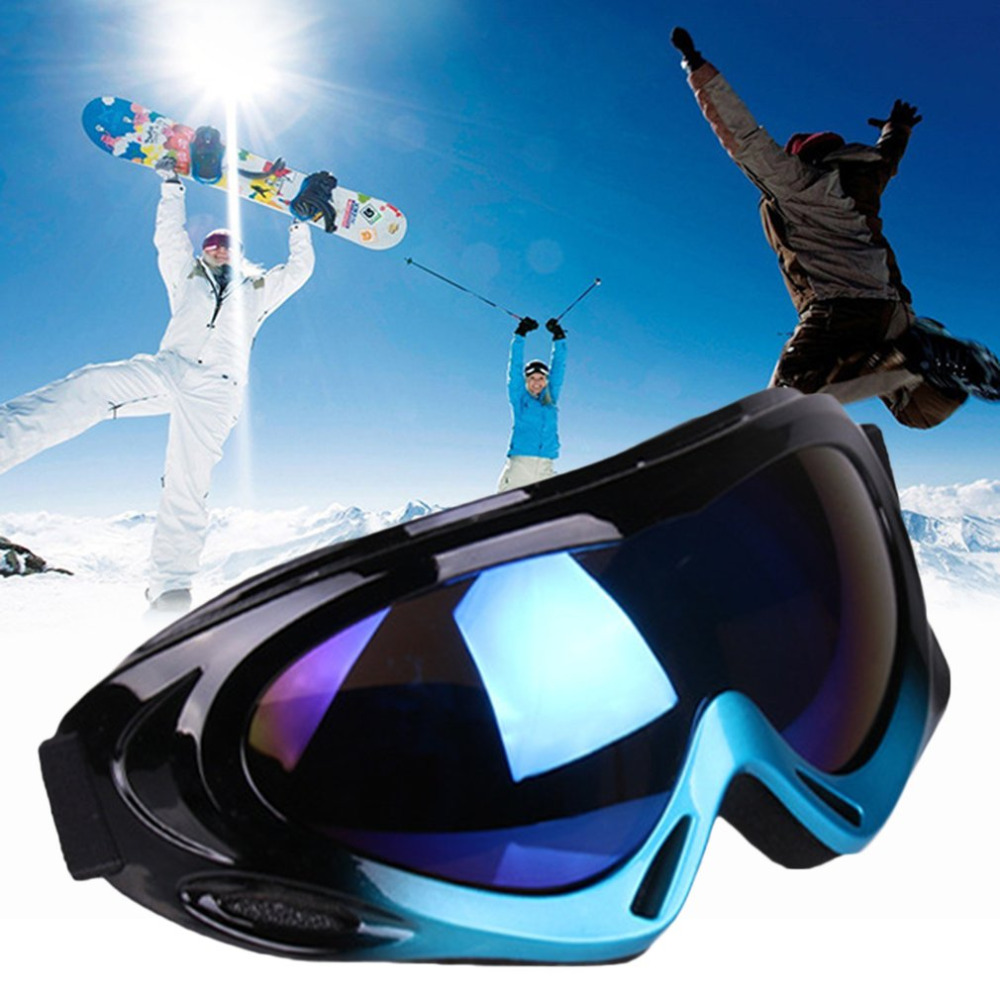 9 Colors Unisex Anti-fog Ski Eyewear Glasses Windproof Anti-sand Snow Snowboard Ski Goggles Eyewear For Outdoor Activities New